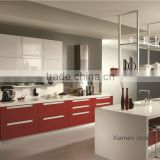 Melamine film MDF door with particle board carcase kitchen cabinet