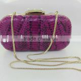 evening bag factory sell wholesale price snake skin evening handbags with with nice crystal clasp