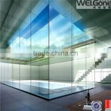 Beautiful glass pvc office partition wall