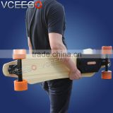 2016 high quality powfull 2200w hub motor electric skateboard remote control with extra pu wheels