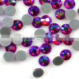 China Sparking Siam AB Hotfix Crystal Rhinestones Strass Supplier, Heat Transfer Rhinestone with ss10 for Garment