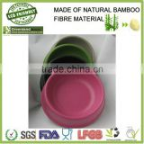 factory selling wholesale new pet product eco-friendly bamboo material pet bowl, bamboo fiber pet cat food holder pot