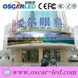 High brightness round sign led display curve led display billboard/panel/board/cabinet p10 commercial scrolling led display
