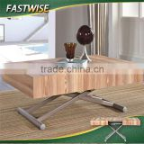 China new design wooden convertible transformable coffee table dining table 2in1 for living room