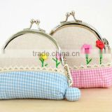 2016 China supplier canvas lovely girls cion purse fancy cute wallet taobao unique clutch bag