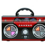 China New Arrival Super Bass AM FM SW High Quality Portable Mini Wood Box Radio