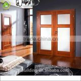 solid wood sapele double swing interior wood doors/Apartment entry door