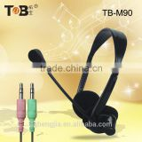 2015 Bulk buy from China best noise canceling stylish wired computer headset with/without mic