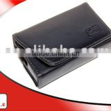 Black lining and stitching Quality PU leather camera case for CANON POWERSHOT S90
