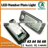 LED license plate light for AUDI A4 A8 RS4 RS6