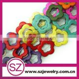 Flower style acrylic turquoise beads, charming open gemstone beads for jewelry
