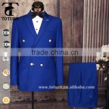 Slim Fit Double Breasted Peaked Lapel Blazer