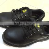 Low price Ming cowhide safety shoe with high quality, industrual work safety shoe, low cut, black, HW-2001