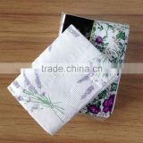 Lavender flower printed tissue paper handkerchief pocket tissues