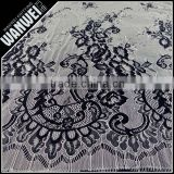 For black and white wedding dress eyelash fabric of nylon polyester eyelash edge french bridal lace trim fabric                                                                         Quality Choice                                                     Most