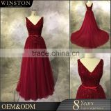 Professional China factory burgundy fabric