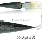 Damascus Steel Knife DD-2013-K44 Stainless Steel Bolsters and Camel Bone Handle