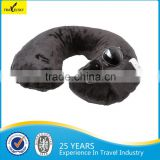 13408G Fleece Comfortable Inflatable Travel Neck Pillow