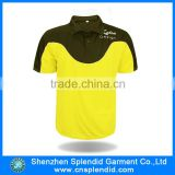 95 spandex 5 cotton fluorescent yellow polo t shirts
