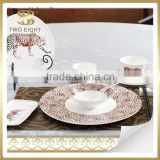 Wholesale germany porcelain dinnerware sets, ceramic decal plate and bowl, catering dinner plates