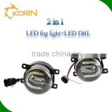 led car light driving light led fog light for car for renault megane 3.5inch 18w 1800lm led drl fog light