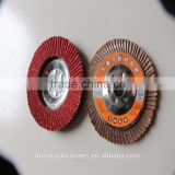 100mm ceramic abrasive flap disc with 75mm iron substate made in linyi