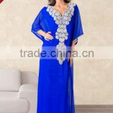 Heavy embroidered half sleeve very fancy dubai kaftan abaya jalabiya ladies maxi dresses