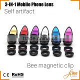 3-in-1 Clip on Lense Wide+Fish Eye+Wide angle Cell Phone Lense AK006