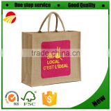 China Manufacturer Jute Beach Tote Bag, Cheap printing Shopping Bag, Promotional Supermarket Foldable grocery shopping Jute Bag