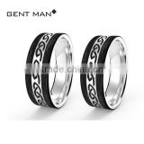 2016 Desgined High Quality couple rings for engagement tanishq Solid Carbon Fiber Silver Wedding Ring turkish wedding rings