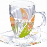glass tea cup &saucer arabic tea cup sets glass tea cup with saucers                                                                         Quality Choice