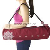 Large Yoga Mat Bag Fits Most Large Yoga Mats 3 Storage Pockets Easy Access Zipper Dual Air-flow 5 Colors