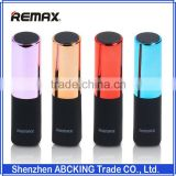 REMAX Lipstick Power Bank 2400mAh Portable Charger Powerbank External Battery Bank Backup Baterias Externas For Smart Phones
