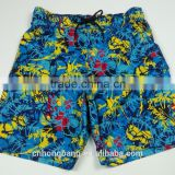 board shorts in stock with sublimation print fabric for surfing beach shorts