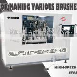 GS180D brush making machine cnc 6-axes 3-heads drilling and tufting various brushes cleaning brush high-speed super stable