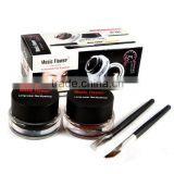 Music Flower black+brown 2colors/set eyeliner gel makeup waterproof eyeliner pencil