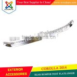 2014 TOYOTA COROLLA REAR BUMPER FOOT PLATE-INNER STAINLESS STEEL 14 ALTIS NEW COROLLA DECORATION ACCESSORIES LOW PRICE