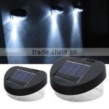2 Pack LED Fence Lights/Garden ourdoor solar powered Pathway Shed Wall LED Landscape Fence Light Lamp