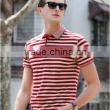 polo t shirt factory wholesale stripe double pique free sample sport polo shirt online shop China