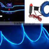 2016 new Hotsale Neon LED Light Glow EL Wire Strip Rope Tube Car Interior Decor Lamp 12V