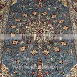 Turkish carpet made in turkey blue 3x5ft medaillon Cut Pile hand knotted tibetan carpets