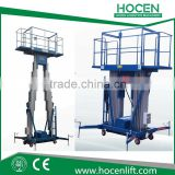 Used High Building Cleaning Equipment 12M Double Mast Indoor Portable Hydraulic Aerial Work Platform Price