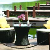 Hot sale Outdoor Garden Wholesale PE Plastic Rattan Wicker Furniture Sofa Set tables and chairs for restaurant