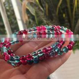 Charming healing power strawberry quartz Crystal Stretch Beaded Bracelet