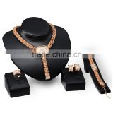 Wholesale Fashion Jewelry Necklace Sets JW003 Gold Plated Women's Western Evening Party Wear