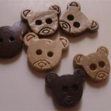 The bear cartoon coconut buttons
