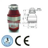 Food Waste Disposer,Continuous Feed(CB,CE,RoHS,CQC)
