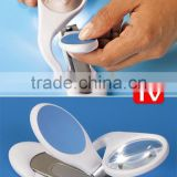 LED magnifier nail clipper
