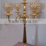 gold plated crystal ball hanging shiny candelabra