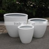 White Fiberstone pots, polystone planter, fiberglass, glossy fiberstone with lightweight and durable for flower and garden pots